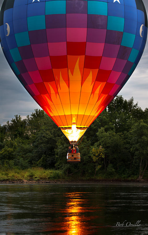 Water Scrapping Hot Air Balloons Photograph  - Water Scrapping Hot Air Balloons Fine Art Print