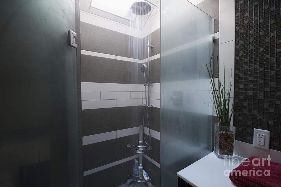 Water Turned On In A Shower Photograph