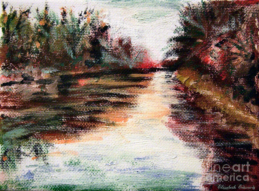 Water-way Oil Painting Painting  - Water-way Oil Painting Fine Art Print