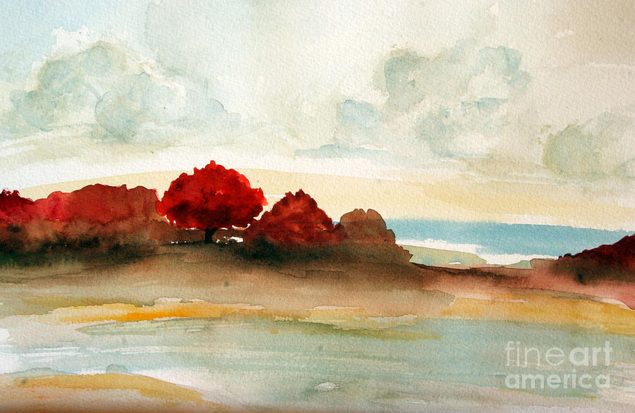 Watercolor Bay Painting