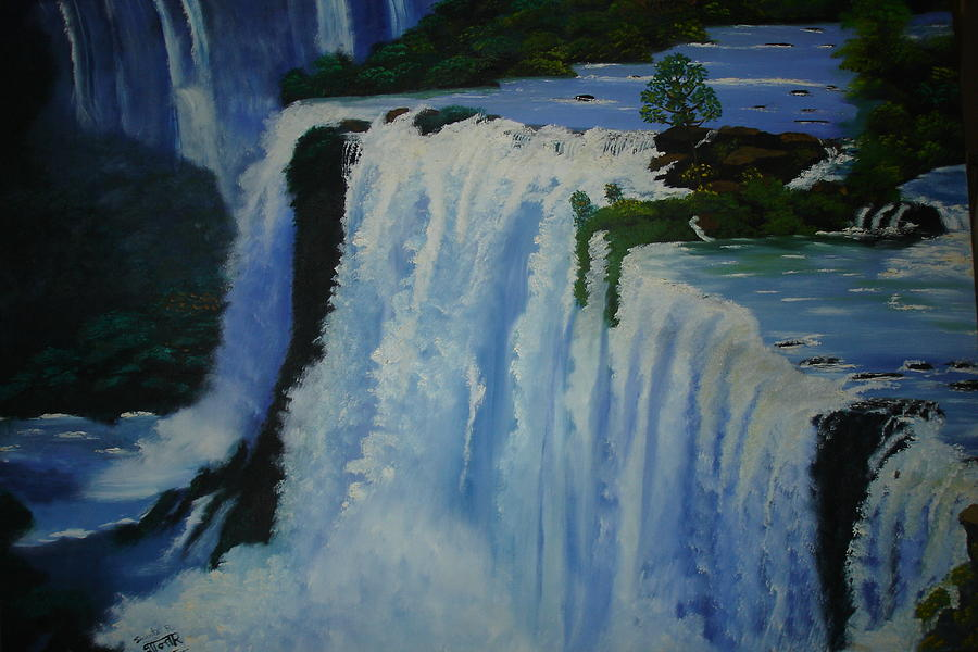 Waterfall - Foz Do Iguacu Painting