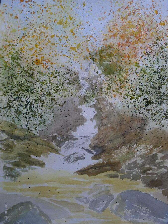 Waterfall Abstract Painting by Joel Deutsch  Waterfall Abstr...