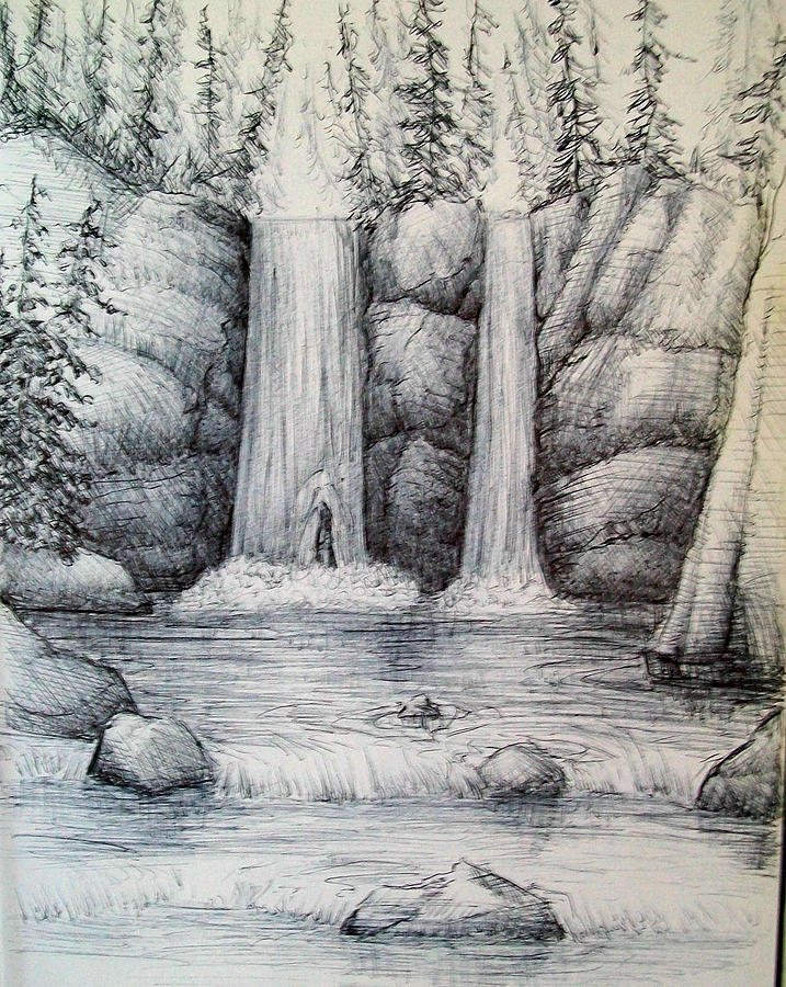 Waterfall Drawing