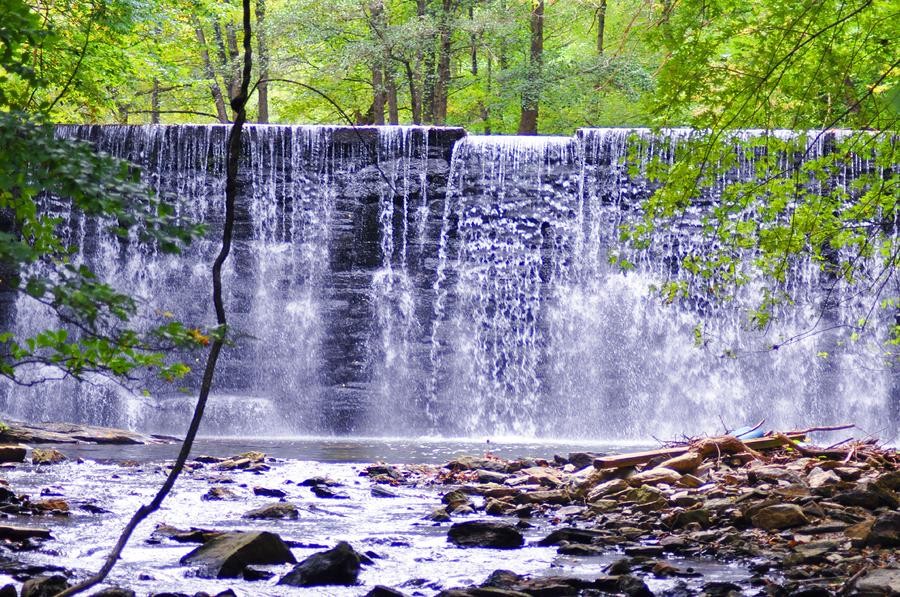 Waterfall In Gladwyne Photograph