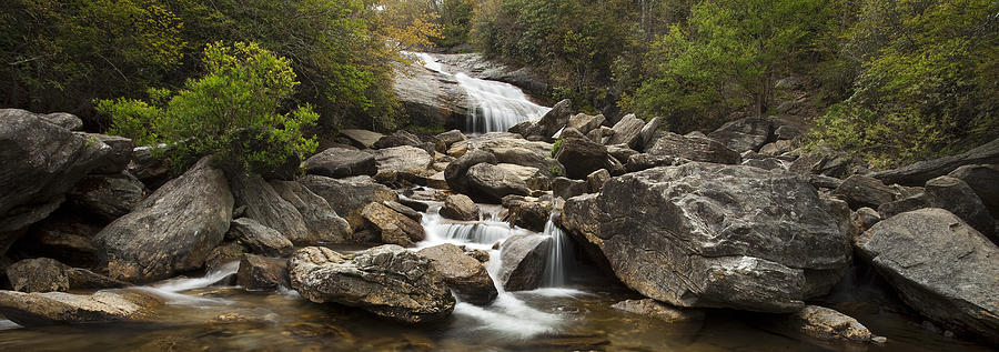 Waterfall Panorama Photograph  - Waterfall Panorama Fine Art Print