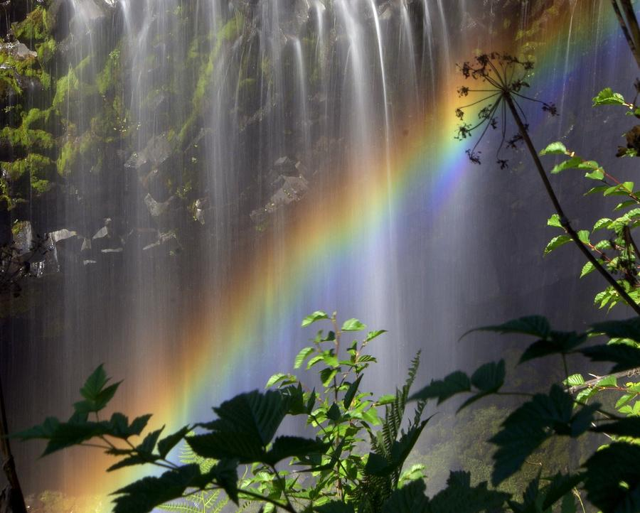 Waterfall Rainbow Photograph