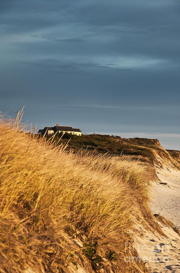 Cape Cod Photograph - Waterfront Beach Cottage by John Greim