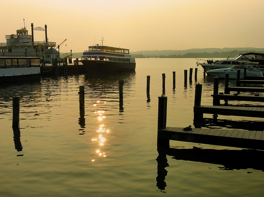 Dock Photograph - Waterfront Docks by Steven Ainsworth