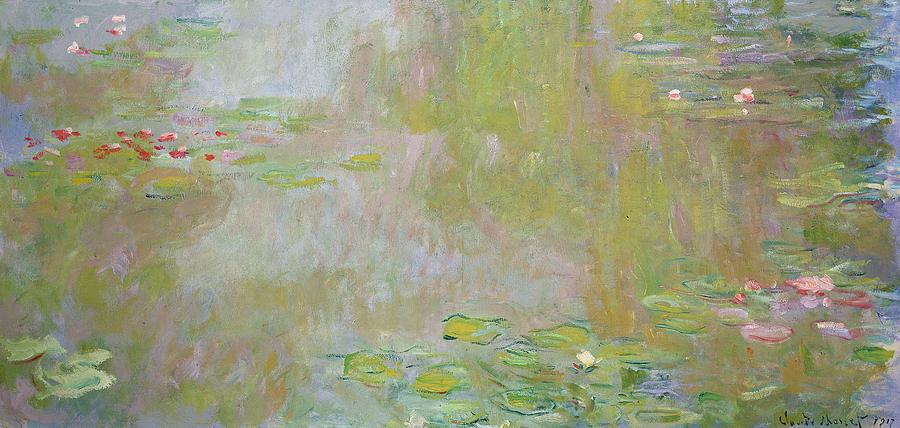 Waterlilies At Giverny Painting  - Waterlilies At Giverny Fine Art Print