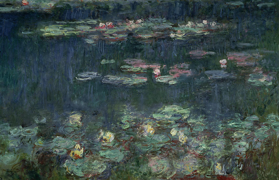 Waterlilies Green Reflections Painting