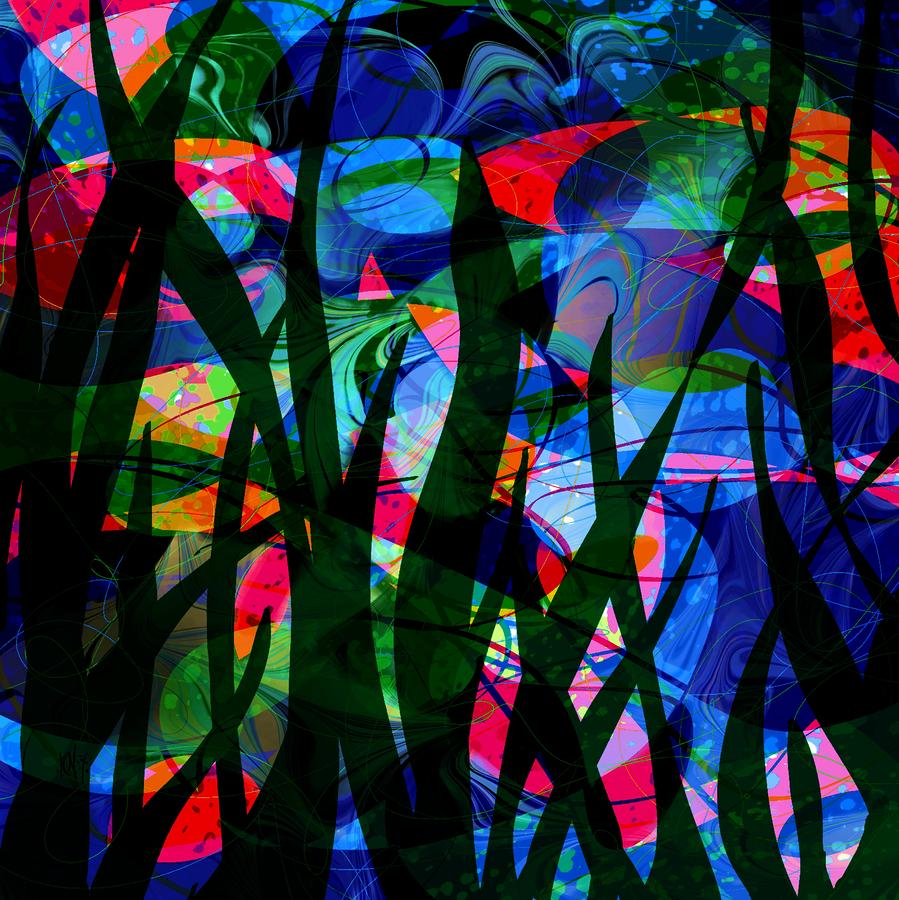Watermelon And A Swim Digital Art