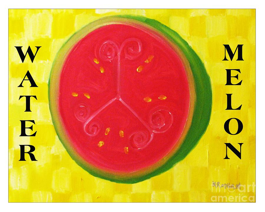 Watermelon Time Painting  - Watermelon Time Fine Art Print