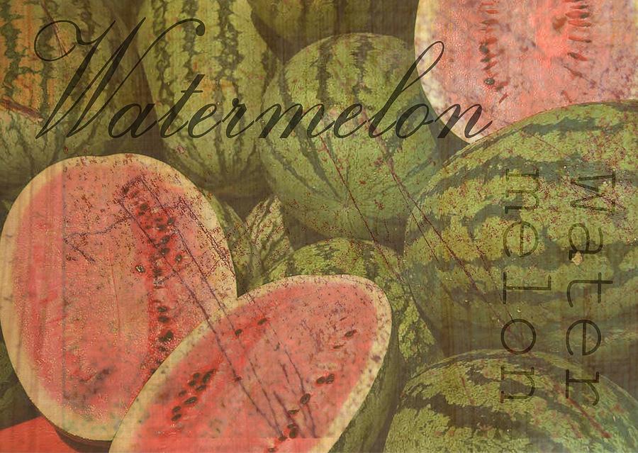 Watermelon Print Digital Art - Watermelon by Wendy Presseisen