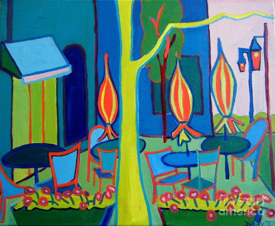 Landscape Painting - Watertown Cafe by Debra Bretton Robinson