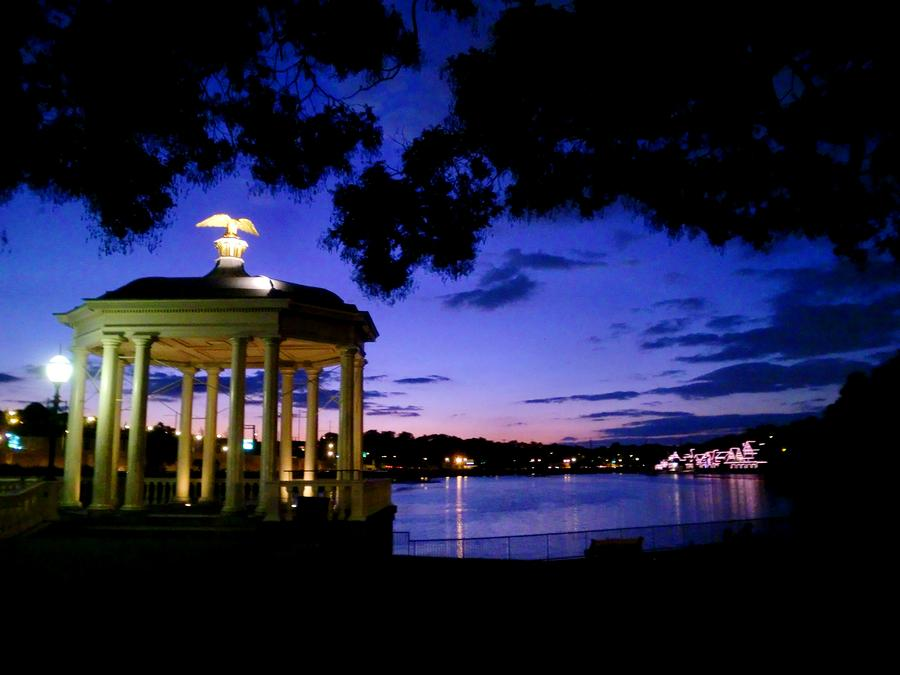 Waterworks At Night Photograph