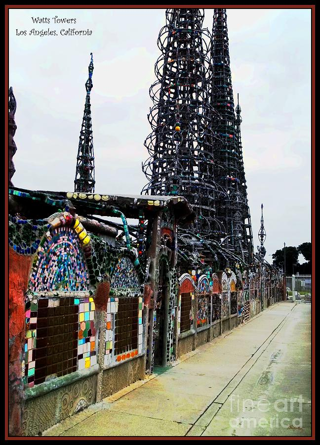 Watts Towers - Los Angeles Photograph