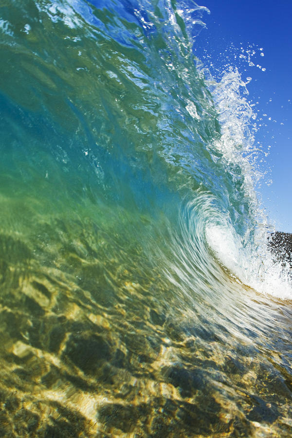 Wave - Makena Photograph  - Wave - Makena Fine Art Print