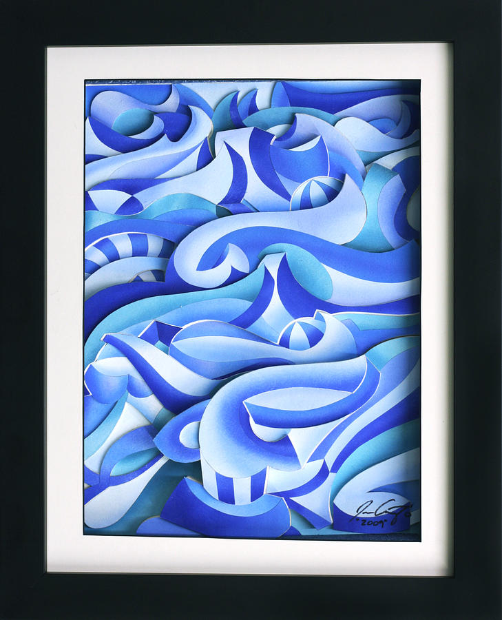 Waves 2 Relief  - Waves 2 Fine Art Print
