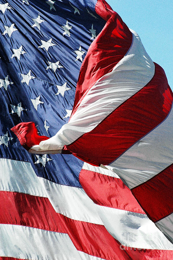 Waving American Flag Photograph  - Waving American Flag Fine Art Print