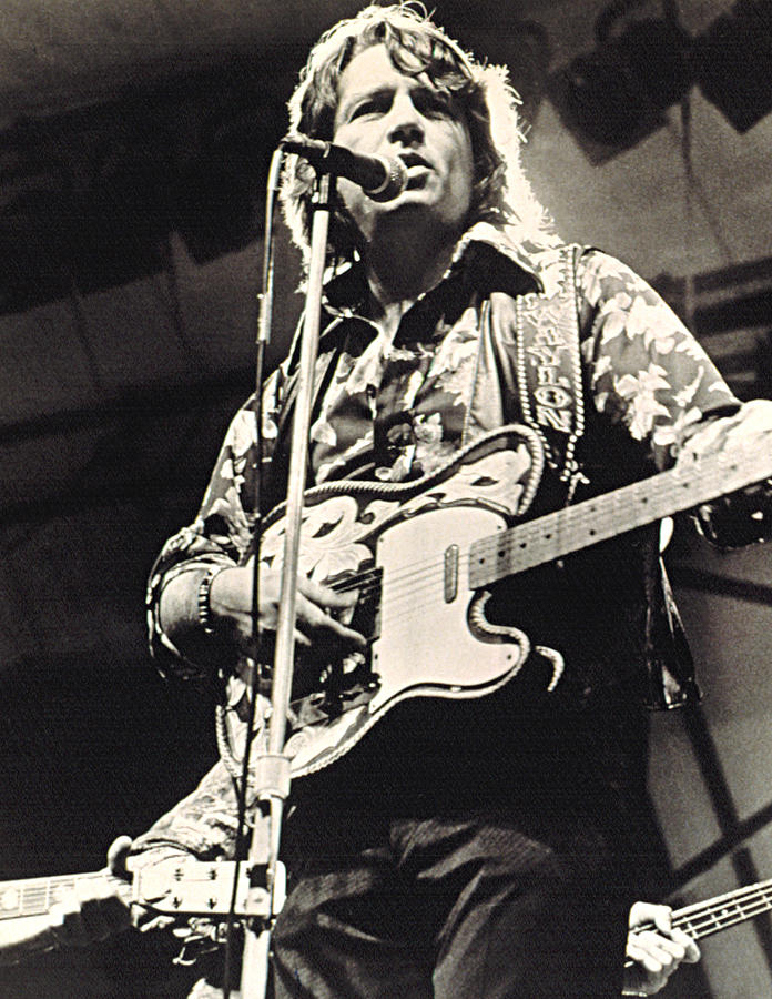 Waylon Jennings In Concert, C. 1974 Photograph