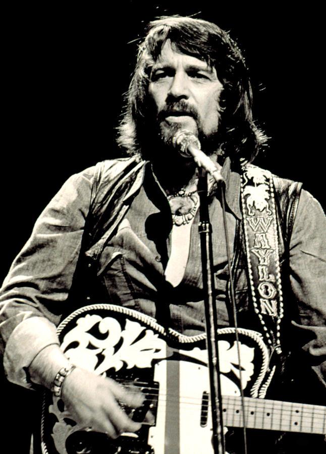 Waylon Jennings In Concert, C. 1976 Photograph