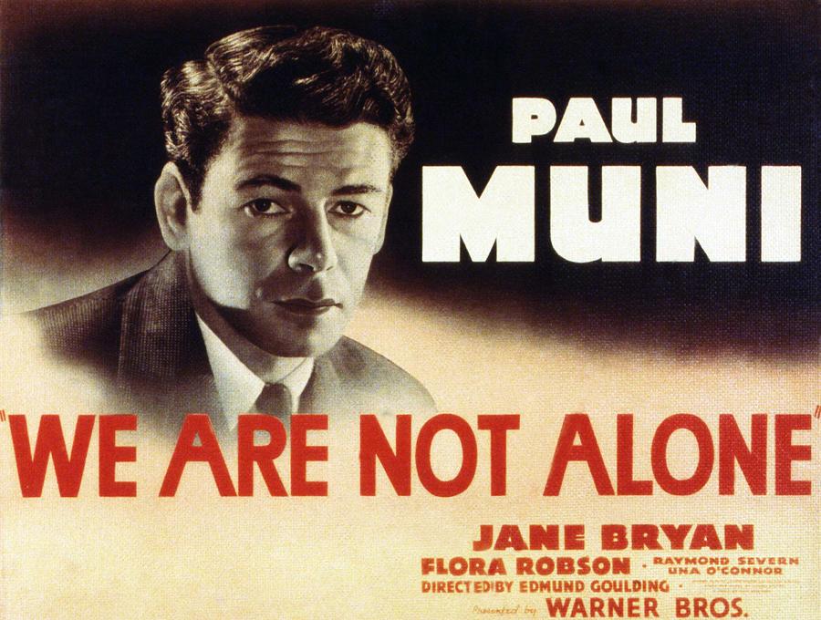 We Are Not Alone, Paul Muni, 1939 Photograph