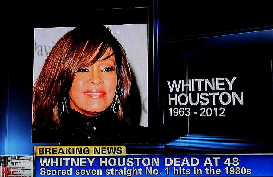 We Miss You Whitney Houston  Photograph  - We Miss You Whitney Houston  Fine Art Print