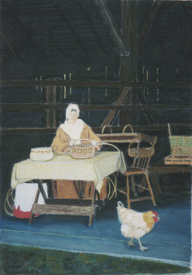Weaver And Chicken Painting