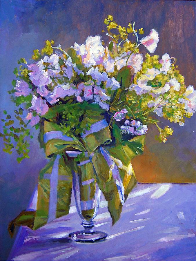 Still Life Painting - Wedding Bouquet by David Lloyd Glover