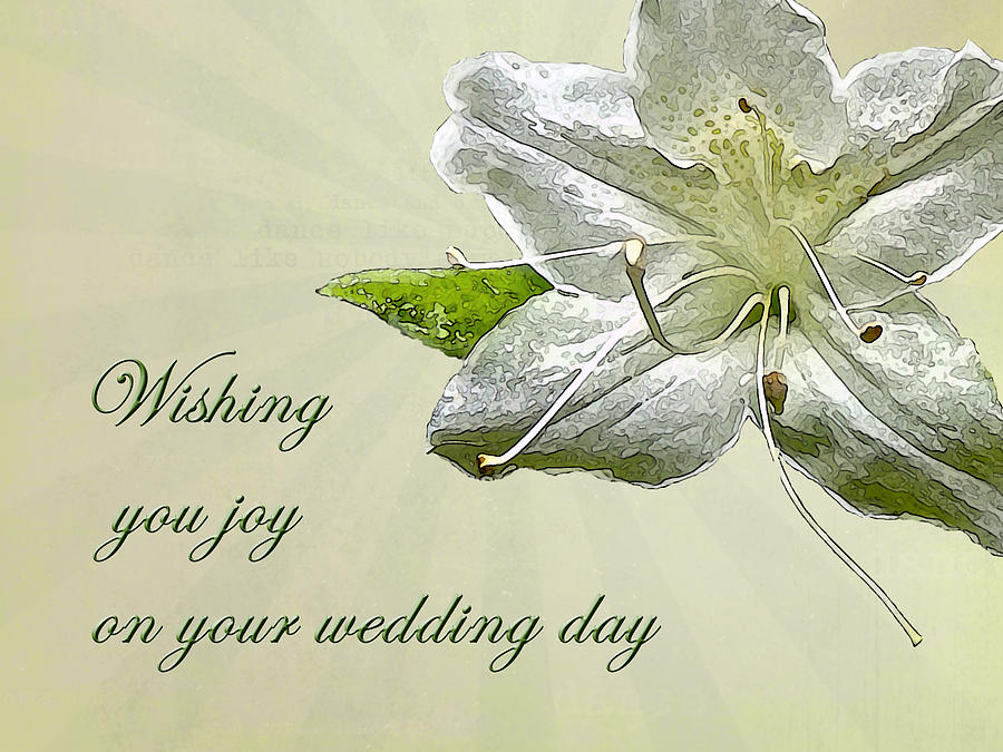 Wedding Wishes Card - White Azalea Photograph