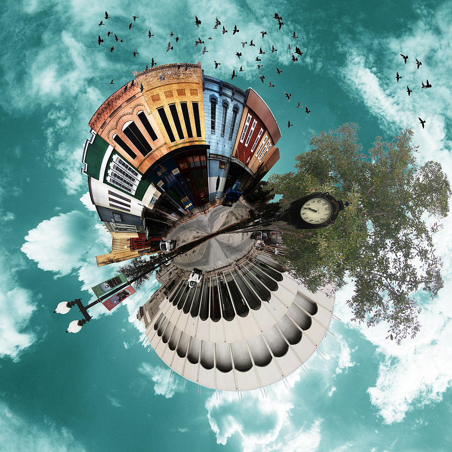 Wee Planet Photograph - Wee Downtown Bryan by Nikki Marie Smith