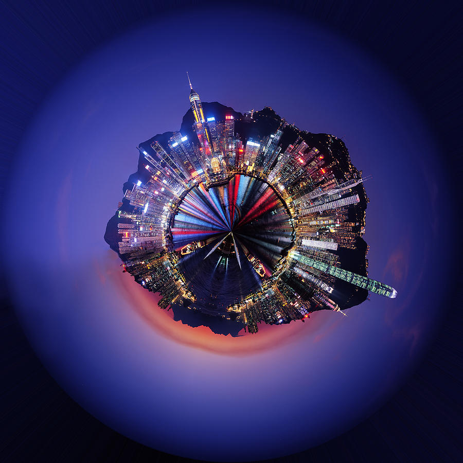 Wee Hong Kong Planet Digital Art  - Wee Hong Kong Planet Fine Art Print