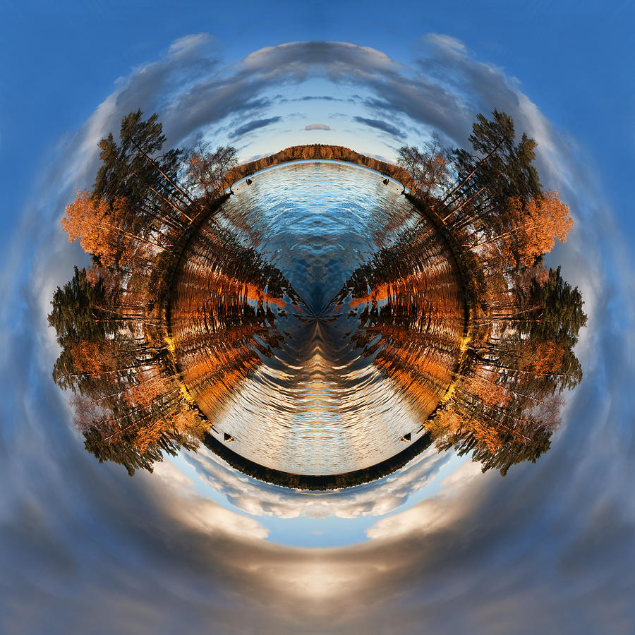 Wee Lake Vuoksa Twin Islands Digital Art