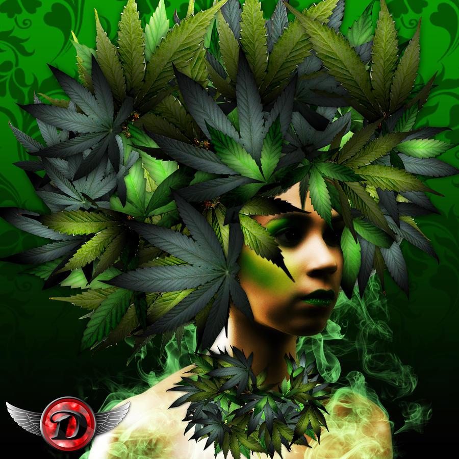 Weed Art Weed woman digital art - weed
