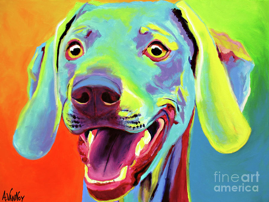 Weimaraner - Taffy Painting