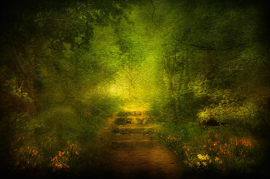 Welcome Path Digital Art  - Welcome Path Fine Art Print
