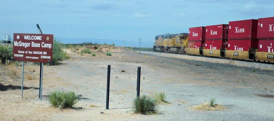 Train Photograph - Welcome by Thomas  MacPherson Jr