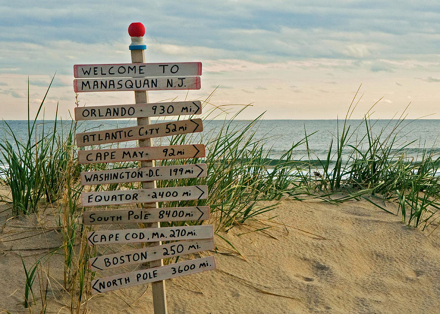 Welcome To Manasquan Photograph  - Welcome To Manasquan Fine Art Print