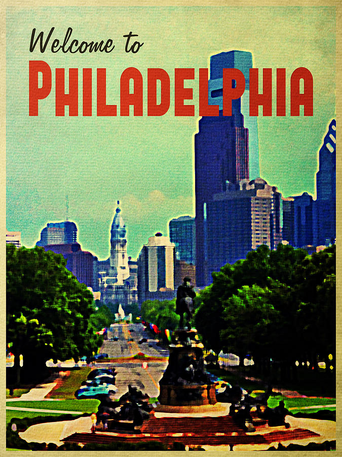 Welcome To Philadelphia Digital Art  - Welcome To Philadelphia Fine Art Print