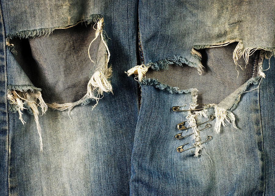 Well-worn Jeans Photograph  - Well-worn Jeans Fine Art Print