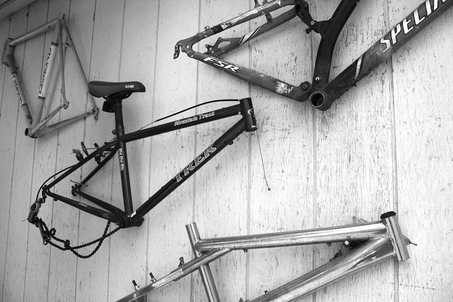 Well Worn Mountain Bike Frames  Photograph  - Well Worn Mountain Bike Frames  Fine Art Print