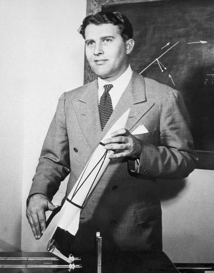 Braun Photograph - Wernher Von Braun, German Rocket Designer by Nasa