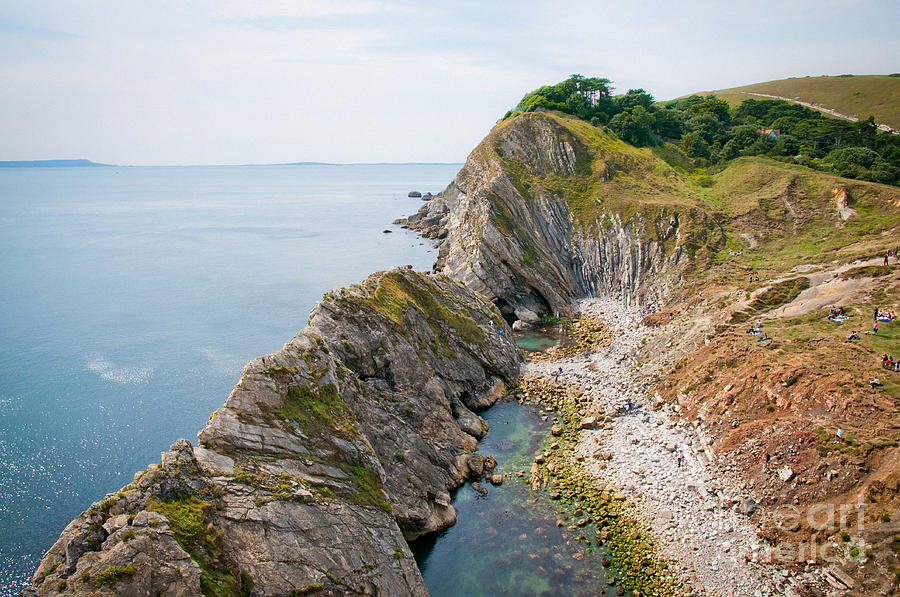 West Lulworth Lagoon The Natural Lagoon Behind The Jurassic Cliffs West Of Lulworth Cove Dorset Photograph