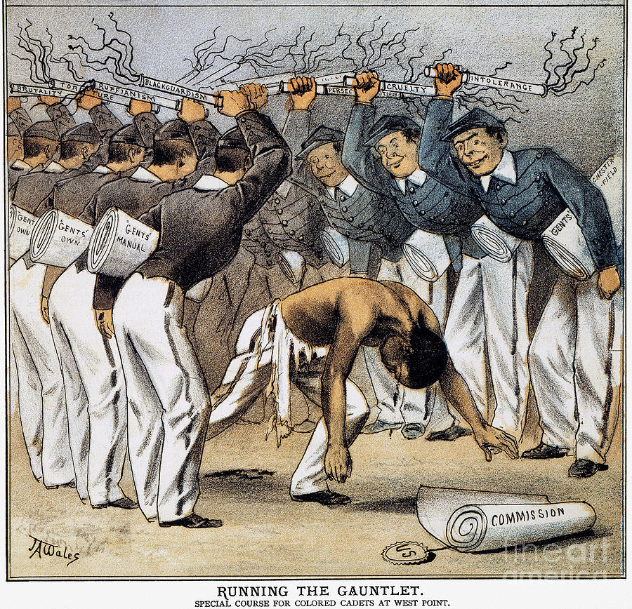 West Point Cartoon, 1880 Photograph