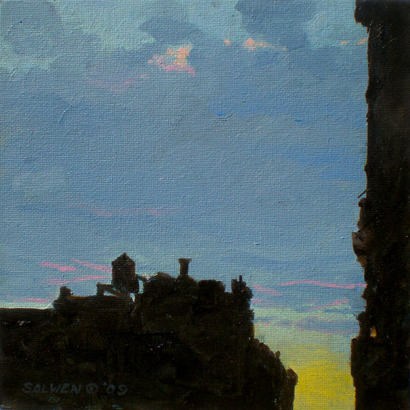 Landscape Painting - West Side Nocturne No. 1 by Peter Salwen