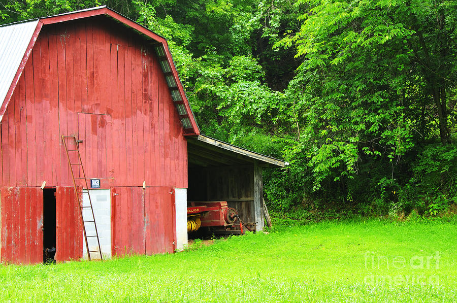 West Virginia Barn And Baler Photograph