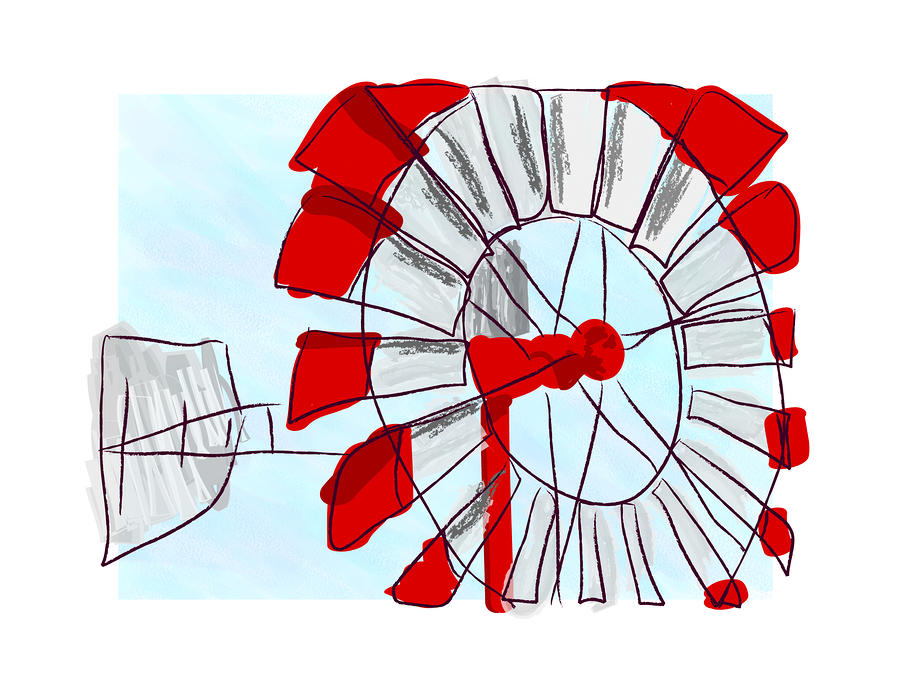 Westen Windmill Digital Art