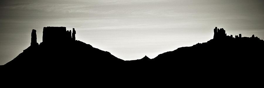 Western Landscape Silhouette Western Landscape Silhouette