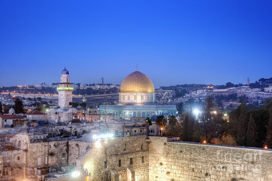 Western Wall And Dome Of The Rock Photograph  - Western Wall And Dome Of The Rock Fine Art Print