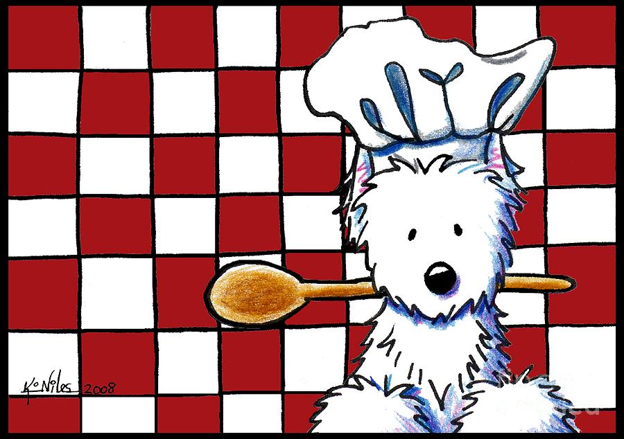 Westie Chef Mixed Media  - Westie Chef Fine Art Print